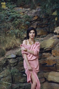 Celeste Pink long dress poster_6944