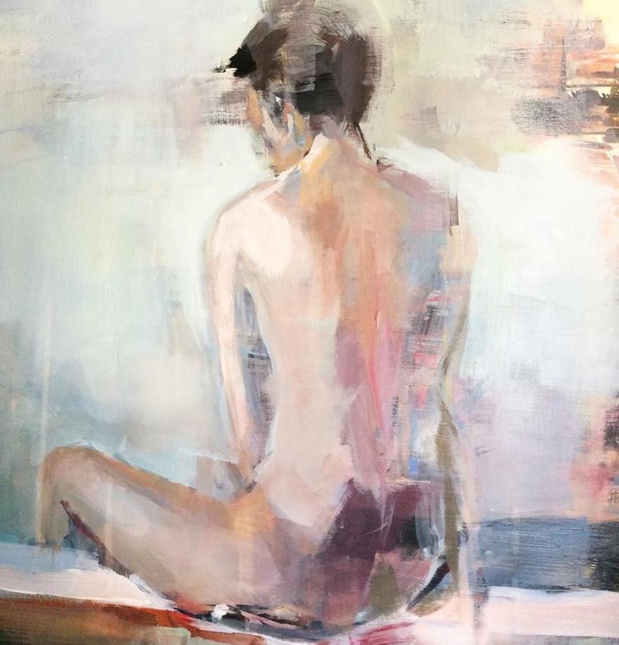 Desnudo sobre paisaje fallido