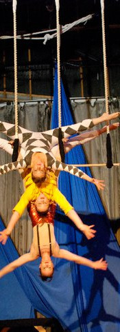 """The Freddies Tribute, with Allyson Mann, bottom and April Moore Skelton in yellow. This was for the show """"Epic"""" in 2010, the first in a trilogy of Rep shows paying tribute to the rock music that shaped our youth. Queen -- it was a mashup of the best songs ever. Long live Freddie."""