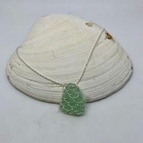 Silver & Sea Glass Necklace