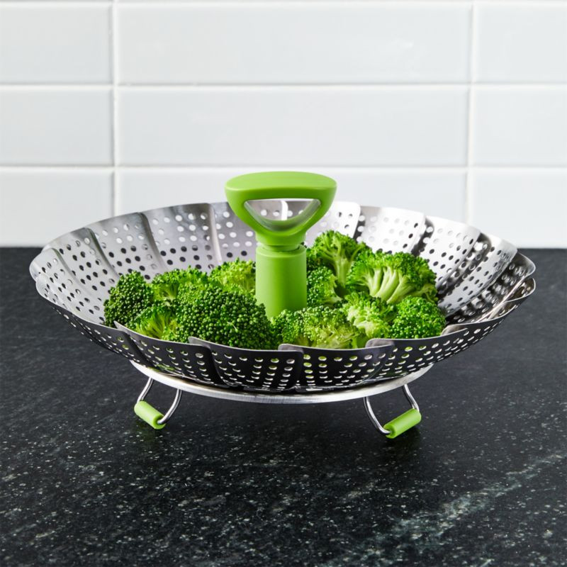 Stainless Steel Vegetable Steamer with Silicone Feet + Reviews ...
