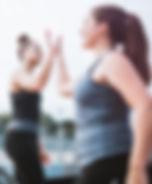 Women enjoying exercise together