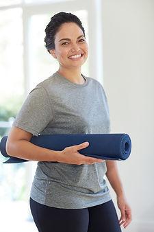 Woman Pilates beginner