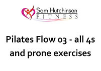 Pilates flow 03 all 4s and prone exercis