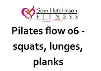 Pilates flow 06 squats, lunges, planks.j