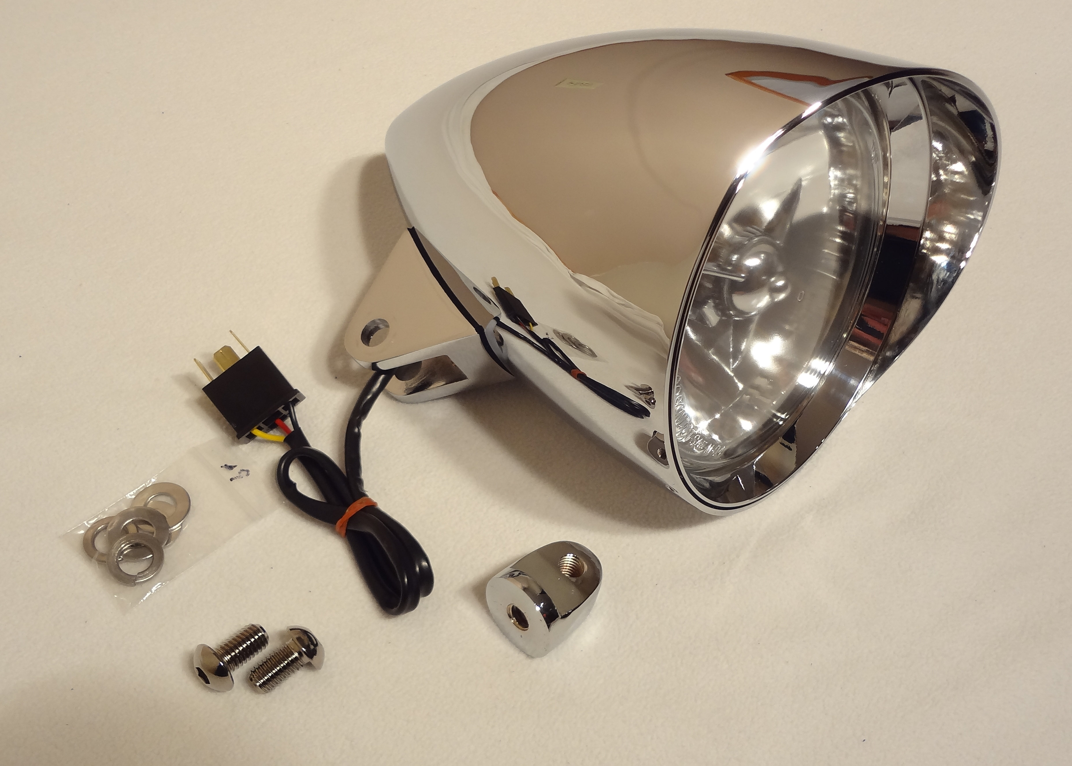 cobra ii headlight with 3-wire system and factory honda plug  allows you to  plug directly into the factory honda wiring harness without splicing