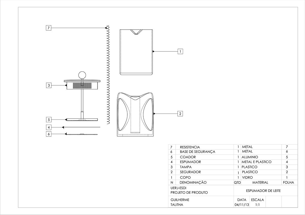 Desenho Técnico - Cafeteira