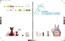 Folheto - Exposição Ghibli