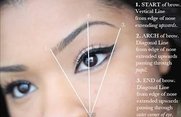 Brow Shape Diagram- Body TLC Lincoln