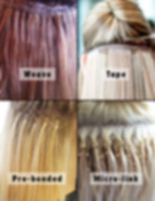 Types of extension Passion Salon Newark.