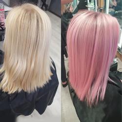 Pretty Pastel Pink at Passion Salon