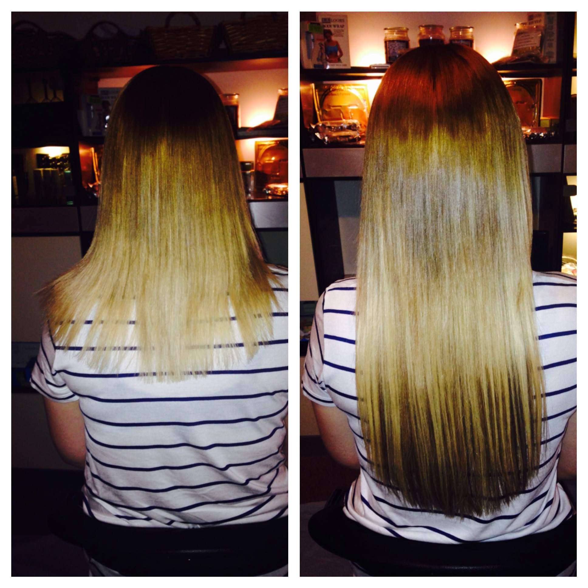 Before and After hair Extensions Passion