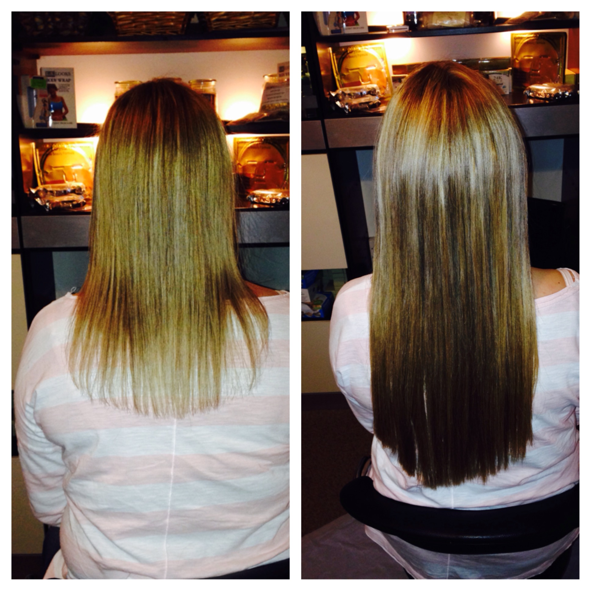 Before and After Hair Extensions in Pass