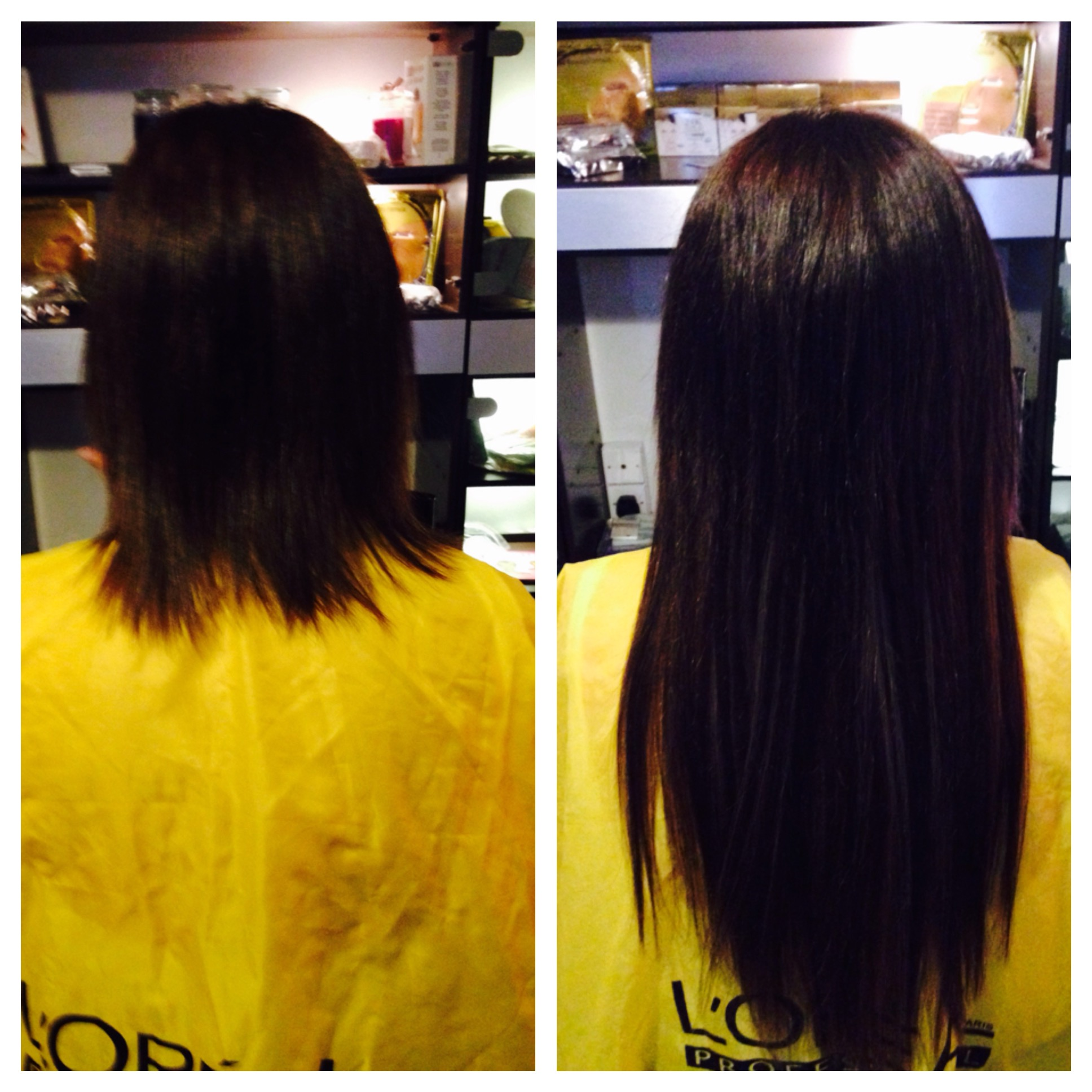 Pre and Post Fitting Hair Extensions Pas