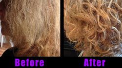 curly hair tamed at Passion Salon