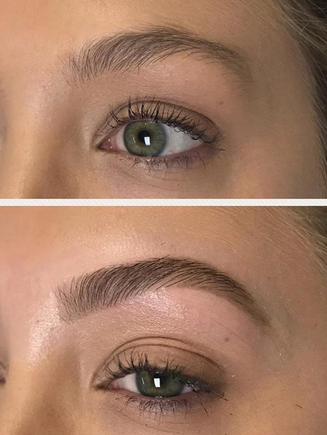 Eyebrow tint and wax at Passion Salon Ne