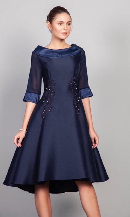 Lizabella Navy Blue Skater dress