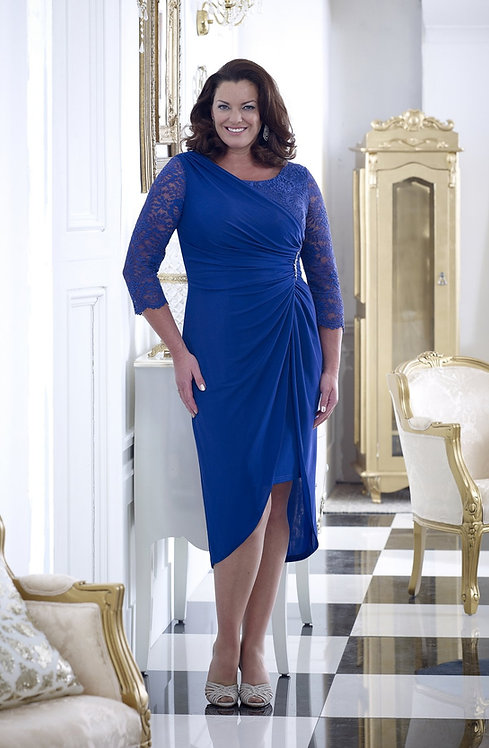 Veromia Dress in Mink/Ivory