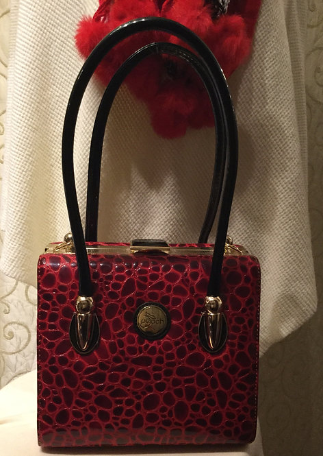 Burgundy Patent Handbag