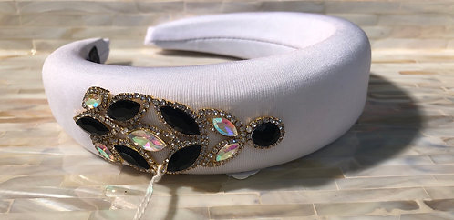 White Embellished Headband