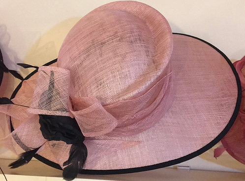 Dusty Pink and Black Hat