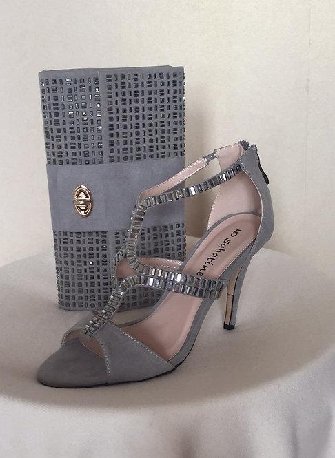 Grey Suede Handbag