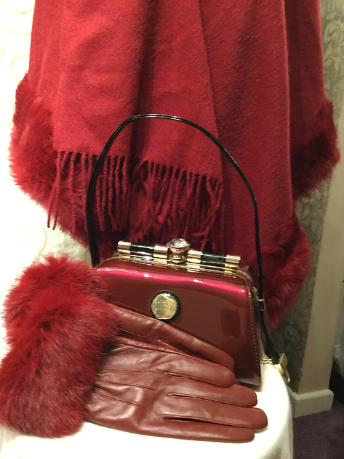 Dark Red Patent Handbag
