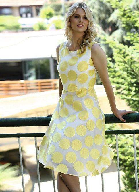 Lizabella yellow spot Dress