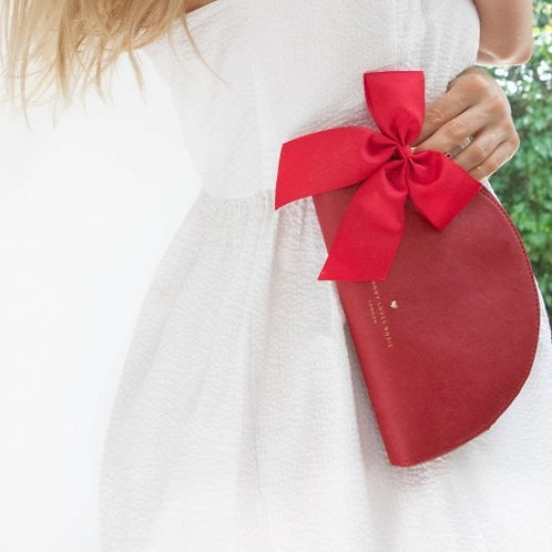 Red Half Moon Pouch