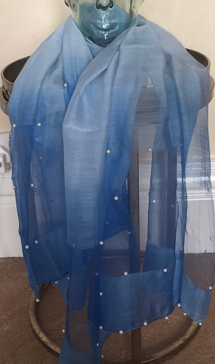 Blue shaded scarf/wrap/cover up/ sarong