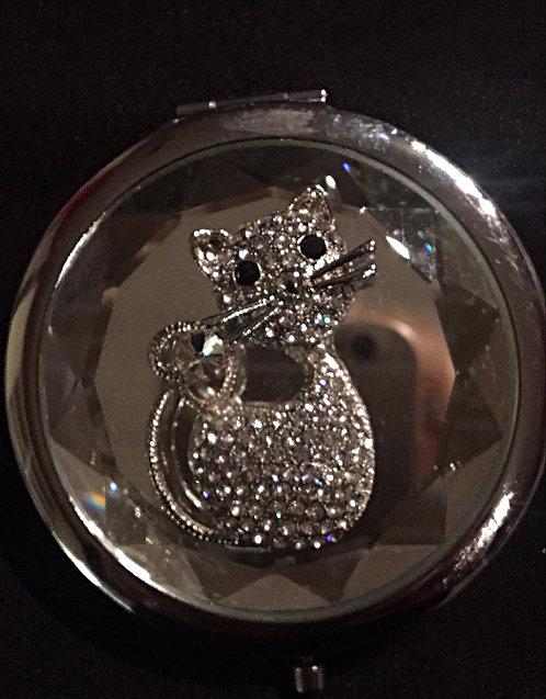 Cat Diamante Compact Mirror