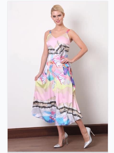 Ella Boo Print Strappy Dress