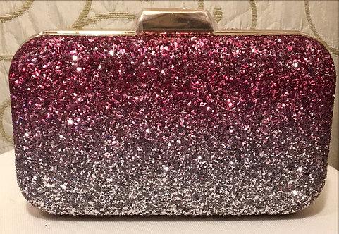 Pink Glittery Clutch Bag