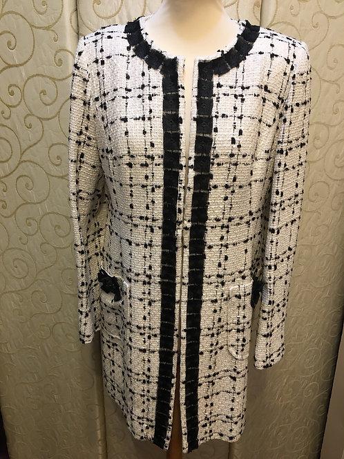 Chanel style three quarter coat