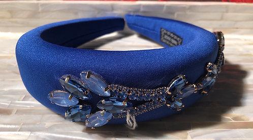 Blue Embellished Headband