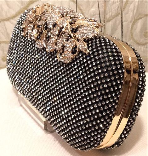 Black Diamante Clutch Bag