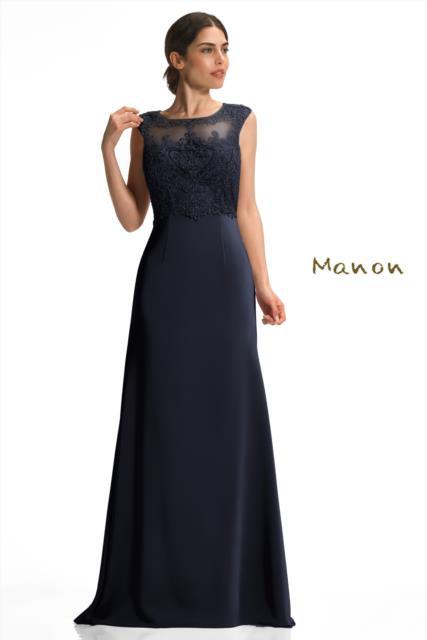 Navy Full Length Dress