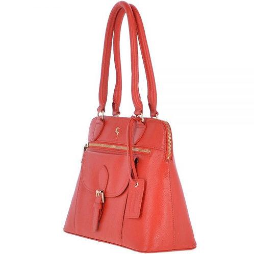 Papaya Leather Handbag