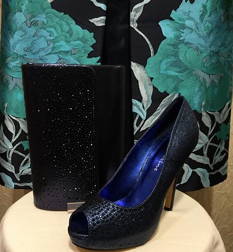 Navy Diamanté shoes