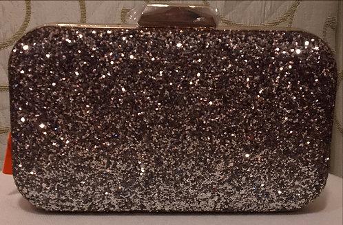 Coffee Glittery Clutch Bag