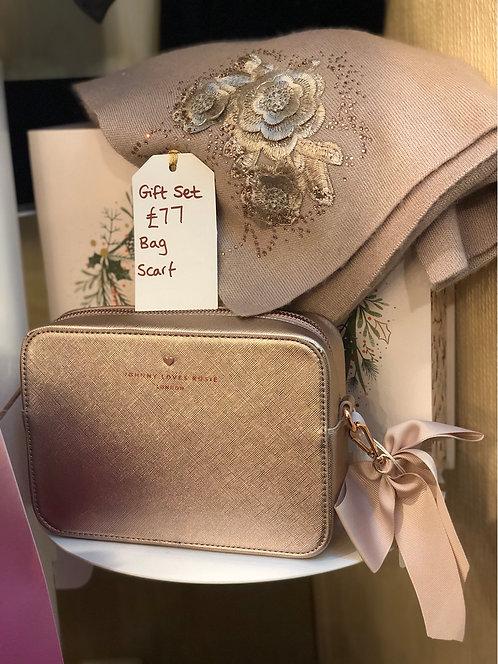 Gift Set- Rose Gold Bag and Scarf