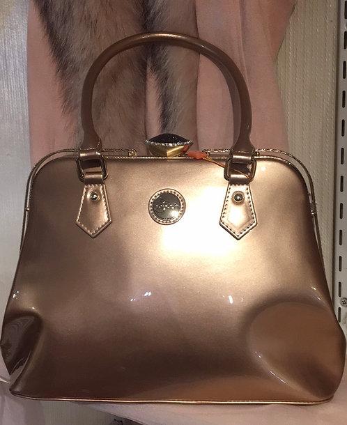 Champagne Patent Handbag