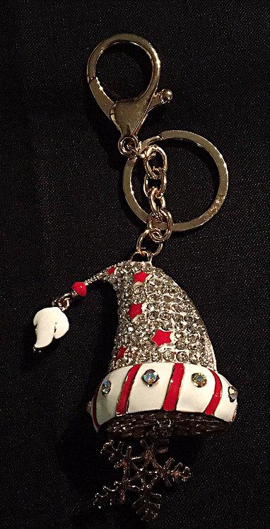 Santa Hat Handbag Charm or Keyring