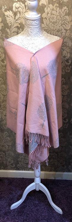 Pink and Grey scarf/ shawl