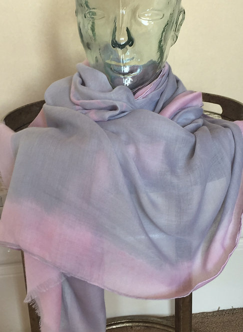 Pink and Grey Coloured Scarf/wrap/shawl