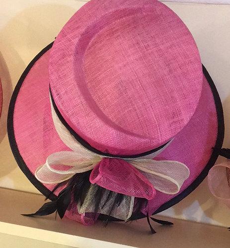 Pink/Black/Cream Hat