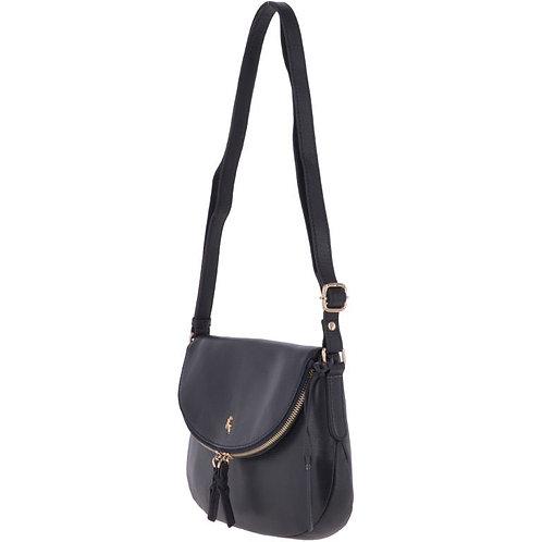 Navy Leather Shoulder Bag