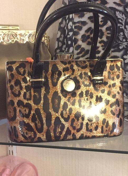Bronze Glitter Patent Handbag