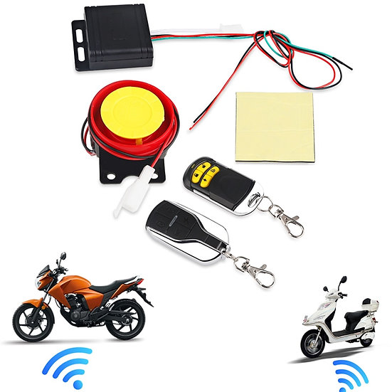 Remote Control Alarm Motorcycle Security System Motorcycle Theft Protection