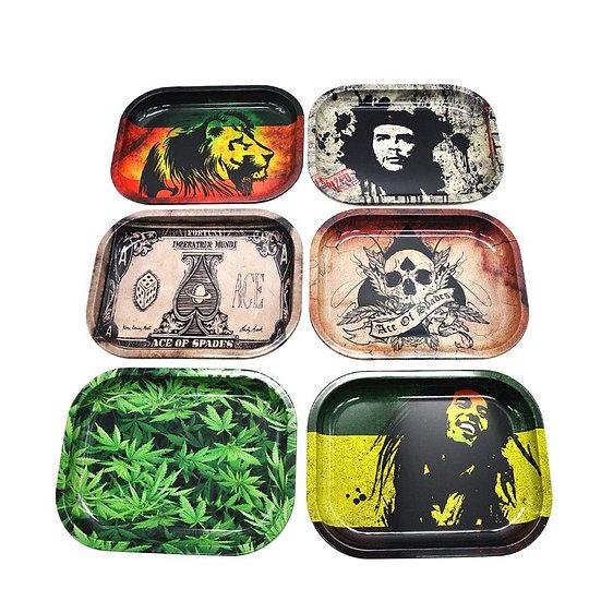 Tobacco Rolling Tray Storage Smoke Bob Marley Weed Grinder Tray Tobacco Holders